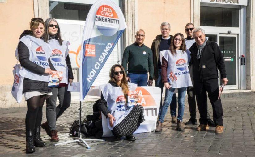 #100piazze per la Lista Civica Zingaretti Presidente